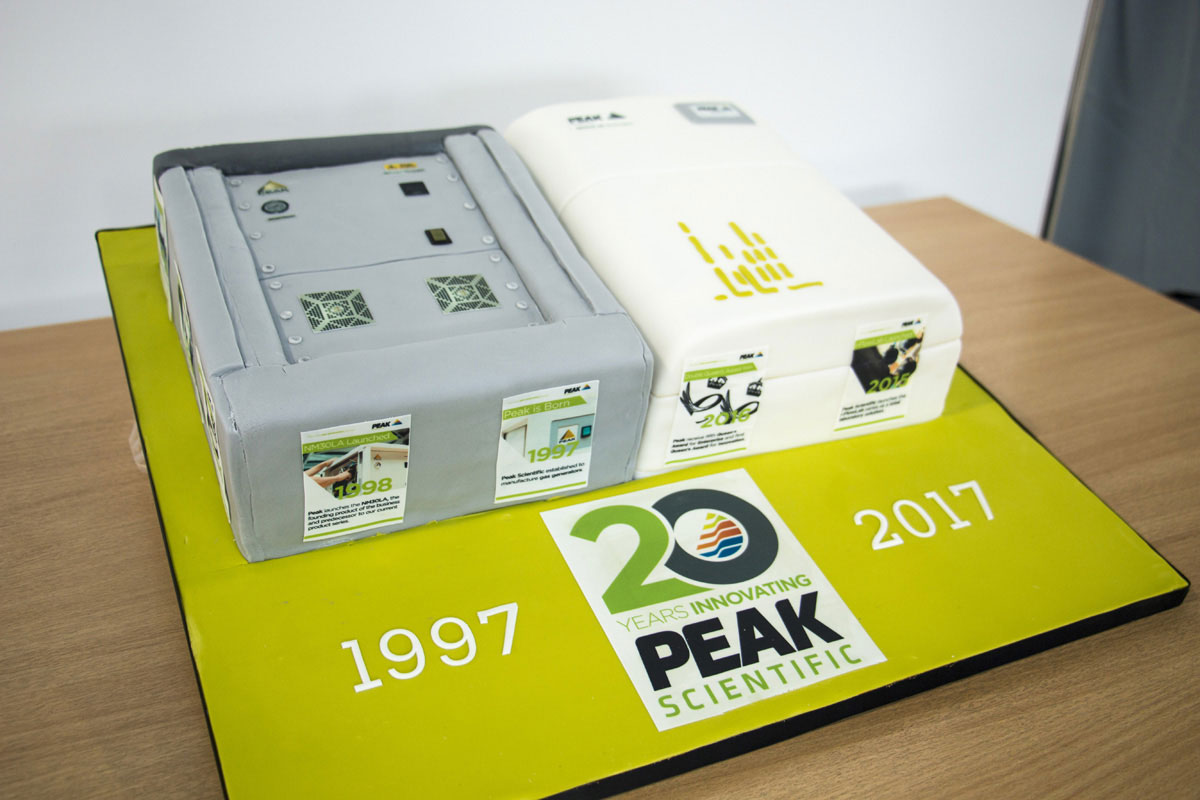 Peak Scientific 20th Anniversary Cake